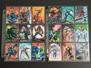 1992 Marvel Masterpieces Complete Base Set, Lost Ladies, Battle Etch And Miscuts