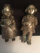 800 Silver Figural Boy And Girl Vintage Salt And Pepper Shakers