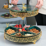 Luxury Nordic Creative Gold Deer Ceramic Dry Fruit Snack Plate Candy Box Platter