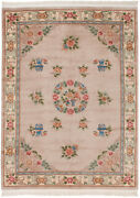 Rra 8x11 8'3x11'5 Chinese Floral Peking Beige And Ivory Rug 42651
