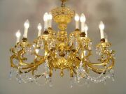 Brass Crystal Chandelier Glass Chains Old Lamp Living Room Andoslash 35 18 Light