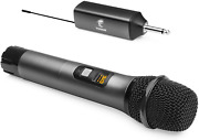 Wireless Microphone Tonor Uhf Metal Cordless Handheld Mic System With Rechargea