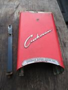 1958 Cushman Eagle Front Fork Cover W/ Good Emblem And Support Bracket
