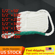 New Twisted Three Strand Anchor Mooring Rope Marine Boat Dock Line With Thimble