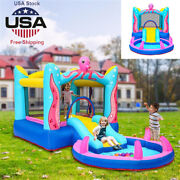 Bounce House Magic Castle Inflatable Bouncer Kids Jumper Slide With Air Blower