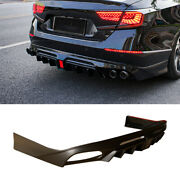 For Honda Accord 2018-2020 Unfinished Rear Bumper Diffuser Spoiler With Lights