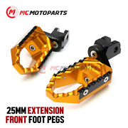 25mm Adjustable Trc Front Wide Footpegs For Yamaha Vmx 1200 V-max 85-07 06