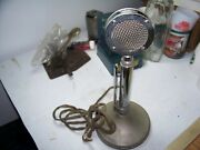 Vintage Astatic Chrome Lollipop D 104 Microphone And Ug8 Stand Untested