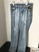 Womenandrsquos Distressed Stretch Jeans Camo Exocet Size 11 1219