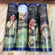 Lot Of 4 Horse Wall Paper Border Scenic Country Farm Dogs Back Riding 5 Yd Rolls