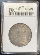 1824/1 Capped Bust Half Dollar Overton 101a Anacs Au58. First Generation Holder
