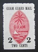 Mint Early Us Local Guam Guard Mail M4 Only 4000 Issued In 1930