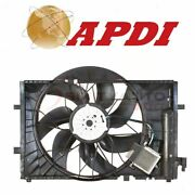 Apdi Dual Radiator And Condenser Fan Assembly For 2006-2007 Mercedes-benz C280 Ma