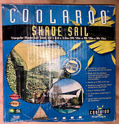 New Coolaroo Ultra Commercial Grade Shade Sail 9'10 Equilateral Triangle Tan