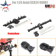 124 Axial Scx24 90081 Rc Car Upgrade Set Front+rear Axle Housing W/ Back Covers
