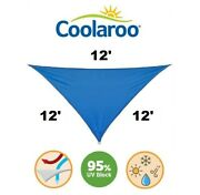 New Coolaroo Coolhaven Shade Sail 12' Triangle Sapphire Blue