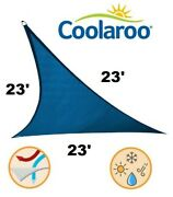 New Coolaroo Ultra Commercial Grade Shade Sail 23' Triangle Sapphire Blue