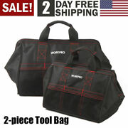 Workpro 18 Zipper Tool Bag Wide Mouth Heavy Duty Carry Work Tote Storage Case