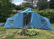 Vintage Tent Ted Williams 18x10 Blue Sears Tent Only See Details