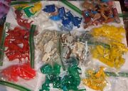 Lot Of 200 Vintage Plastic Toy Farm Animals Auburn Marx And Others Huge Variety O