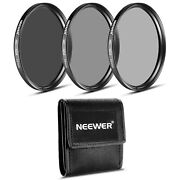 Neewer 77mm Nd Filter Set Nd2 Nd4 Nd8 For Canon Ef 24-105mm Nikon 28-300mm