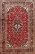 Vintage Floral Ardakan Hand-knotted Large Area Rug Dining Room Oriental 10and039x13and039