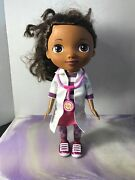 Disney Just Play Doc Mcstuffins Doll - 12 Toy Doctor White Coat And Stethoscope