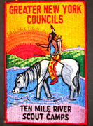 Greater New York Council Ten Mile River Scout Camps 7x5 Bp - Thread Back- Rare
