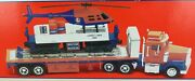 .huge Near Mint Lionel Tmt-18418 Flatbed Truck And Operating Helicopter Car.