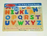 Melissa And Doug See Hear Alphabet Sound Puzzle 26 Pieces 0340 New