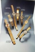 .1990 Scarce Rolex Brochure Ladies 14kt And 18kt Gold, Diamond Watches And Bracelets