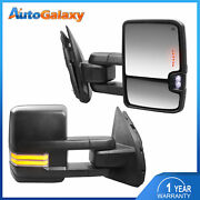 Pair Power Heated Towing Mirrors Turn Signal For 2003-16 F-250 F-350 F-450 F-550