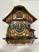 """German Cuckoo Clock Quartz-movement By Engstler 8"""" Inches Tall And Wide"""