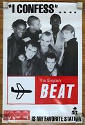 The English Beat I Confess.... 1982 Promo Poster Kroq Is My Favorite Station Ska