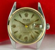 Vintage Rolex Oysterdate Precision 6494 Red And Black Roulette Date Menand039s Watch