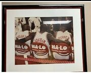 Michael Jordan Large Framed Photo By Halo . Very Rare Never Sold In Stores