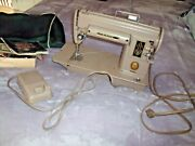 Vintage 301a Singer Sewing Machine With Foot Pedal Manual Cover Parts And Bobbins