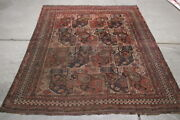 Antique Rug 6.3x5 Hand Made  100 Wool One Of The Kind