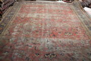 Antique Rug 13.11x10.2hand Made 100 Wool One Of Kind Gorgeous Rug