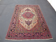 6.8x4.6 Antique Rug Isfahan 100 Wool Hand Made Masterpiece