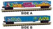 Micro-trains Mtl N-scale 50ft Gondola Golden West Service/gws Andlsquoholiday Graffitiandrsquo