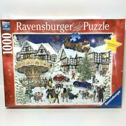 Ravensburger Puzzle 1000 Piece, Snowy Village, New, Christmas Limited Edition