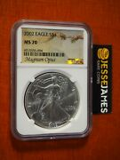 2002 1 American Silver Eagle Ngc Ms70 Magnum Opus Label