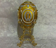 Big Faberge Egg Caucasian Gold. Swan Lake Plays 11.81 . Made In Russia