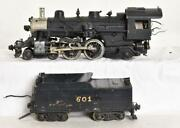 Brass And Cast Metal O Scale Atlantic 4-4-2 Steam Locomotive And Tender
