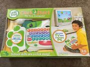 New Leap Frog Click Start My First Computer Green White Factory Sealed Rare
