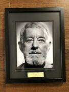 Alec Guinness Obi-wan Kenobi Signed Autograph W/ Matted And Framed Photo And Coa