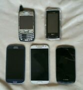 Lot Of 5 Smart Cell Phones - Droid Charge / Samsung S4 / Palm / S3 / Lg