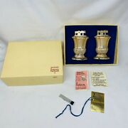 Vintage Ronson Mayfair Silver Plated Set Table Lighters Original Box