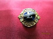 Vintage Lions Club Gold Past Secretary Pin With Two Diamonds